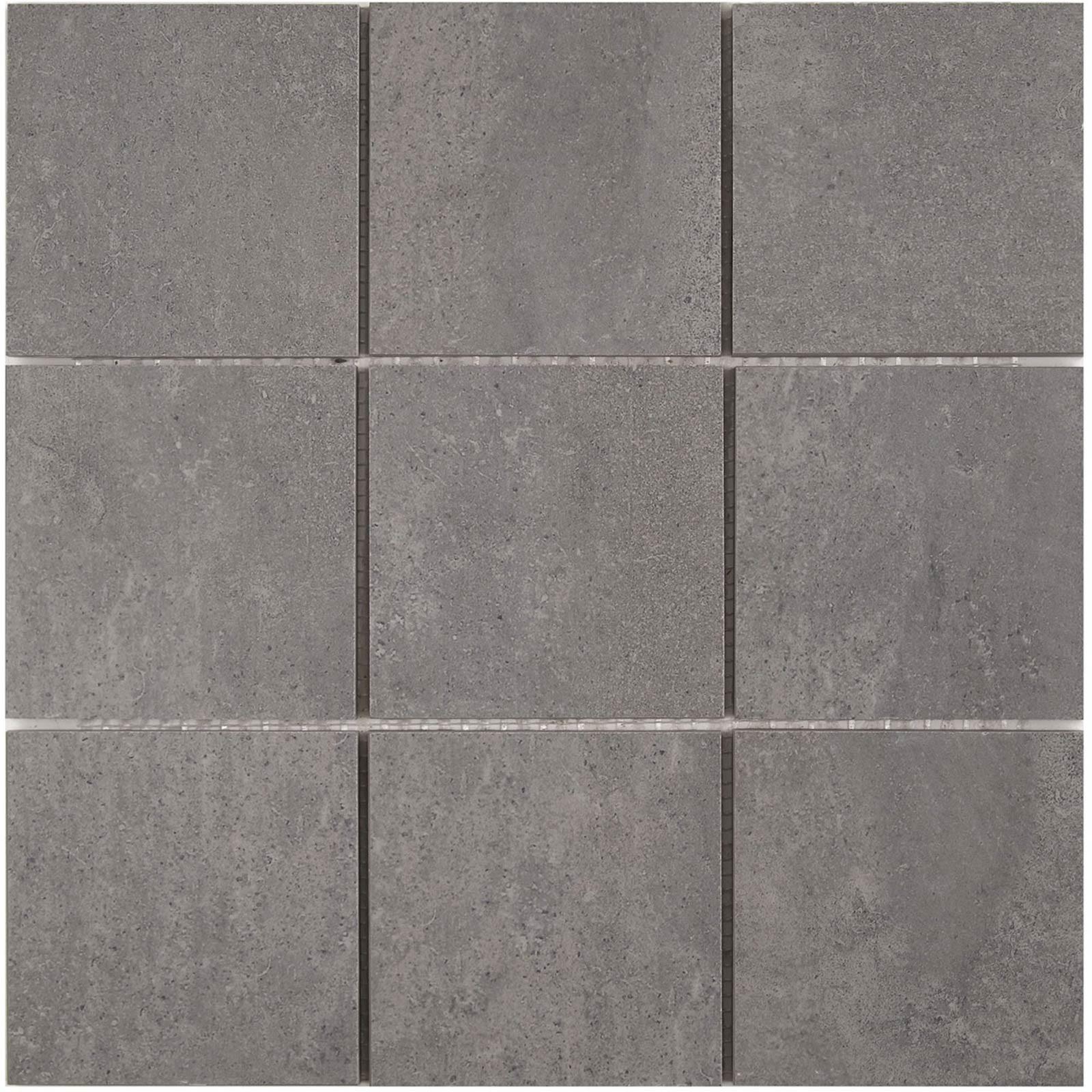 Cementi dark grey porcelain wall floor mosaic for 10x10 ceramic floor tile