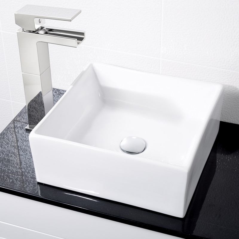 paz square countertop basin with adona extended waterfall. Black Bedroom Furniture Sets. Home Design Ideas