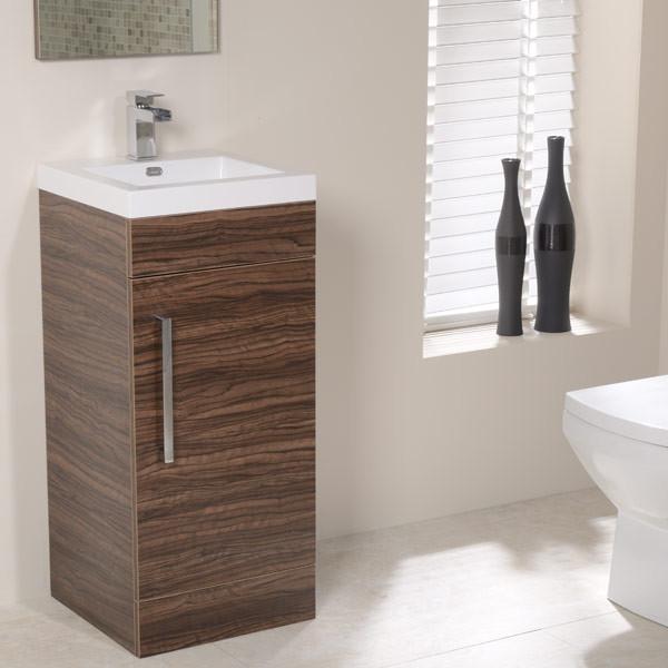 Walnut Vanity Units For Bathroom: TD Walnut 400 Vanity Unit