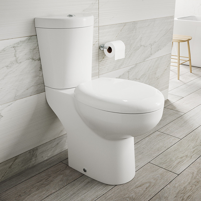 Comfort Height Close Coupled Toilet With Soft Close Toilet