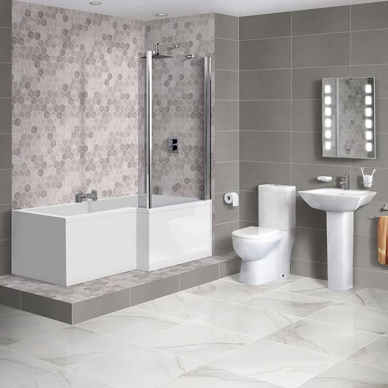 1675 Veneto Right Hand Square Shower Bath Suite