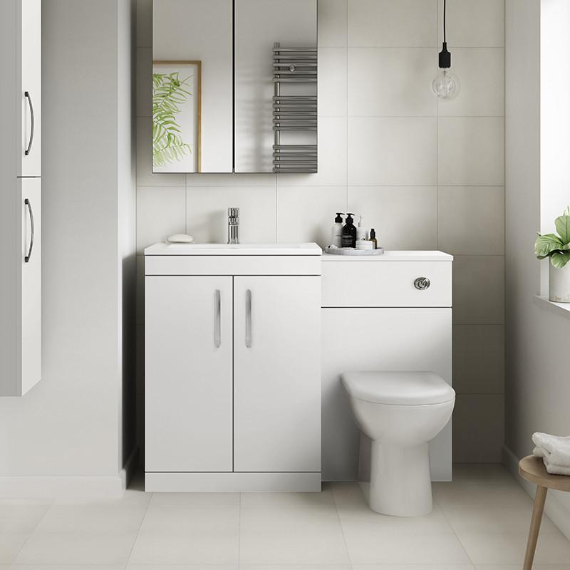 Ashford White Gloss Combination Unit with Santorini Toilet