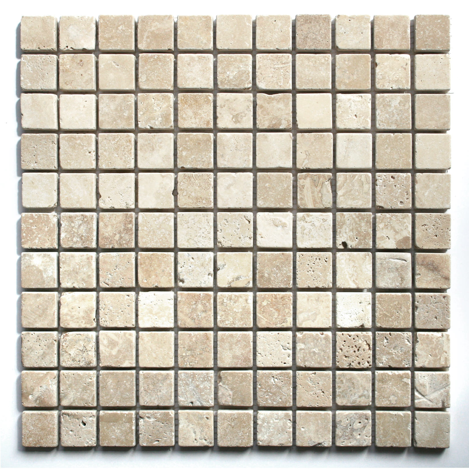 White travertine tumbled wall floor mosaic tile for Mosaic tile bathroom design
