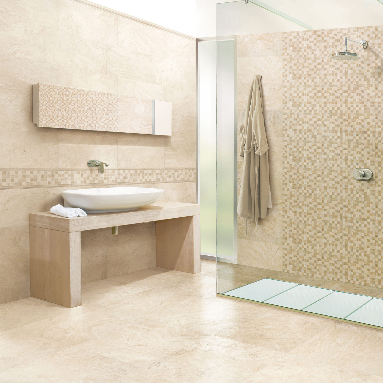 . Wind Wall Tile Travertine Effect Wall Floor Tile