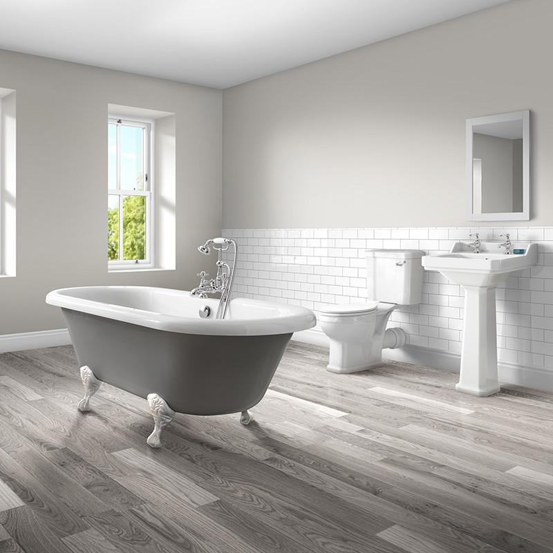Bathroom Osborne Park Bathroom: 1700 Nottingham Grey Double Ended Bath With Park Royal Bathroom Suite
