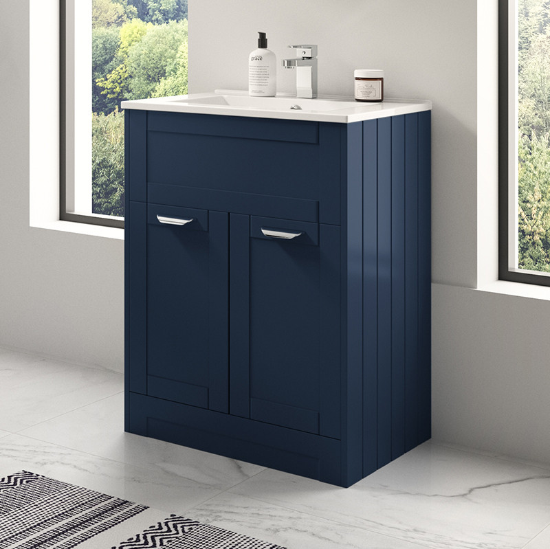 Nottingham Indigo Blue 600 Vanity Unit
