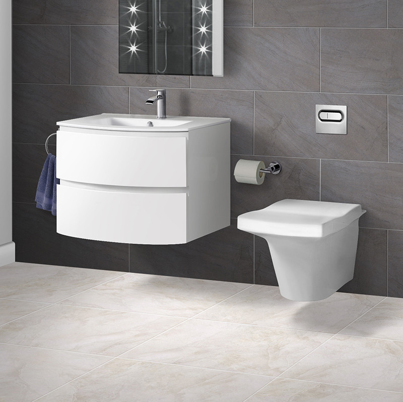 how to tile bathrooms iseo wall hung toilet with voss 620 two drawer wall hung unit 18779