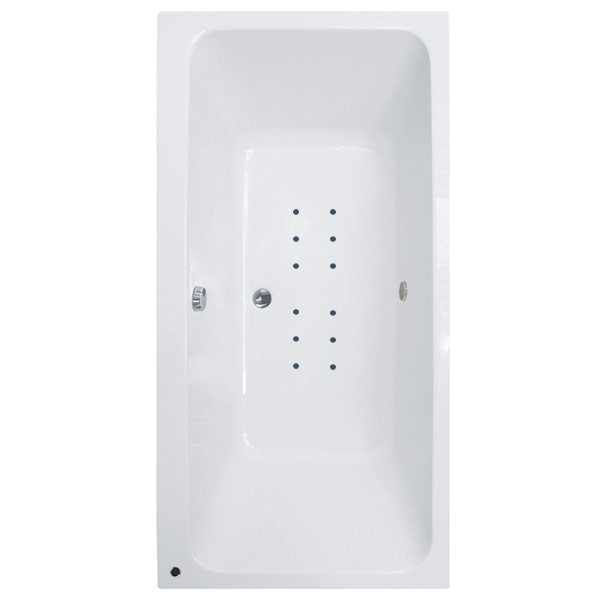Turin 1800 x 1100 double ended airspa bath for Small baths 1100