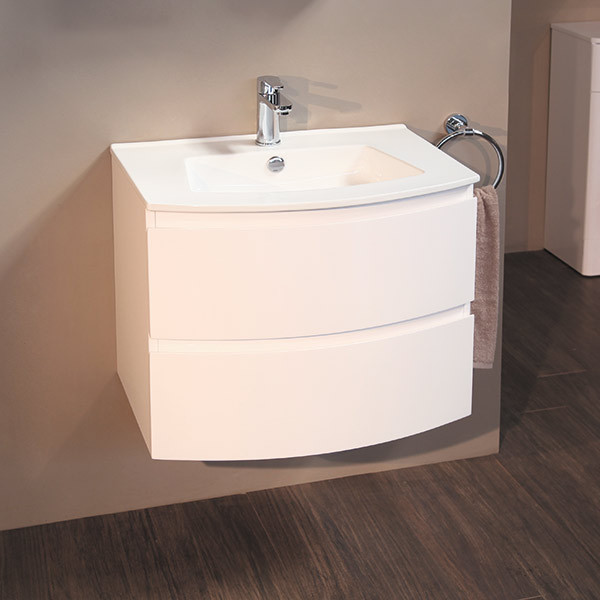Voss 620 Wall Mounted Vanity Drawer Unit And Basin