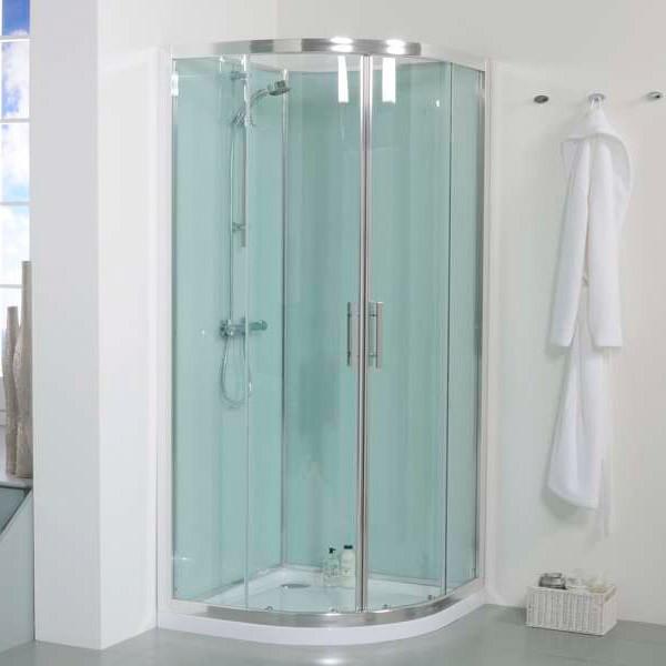900 Quadrant Shower Cabin with Aqua White Back Panels