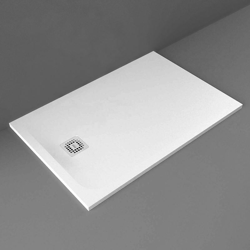 Rak Feeling Solid Grey 1200mm X 800mm Rectangular Shower Tray