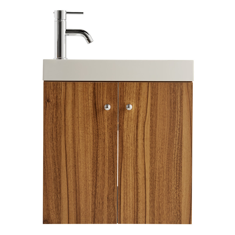 Darcey Oak Effect Wall Hung Vanity Unit with Basin 540x495x220