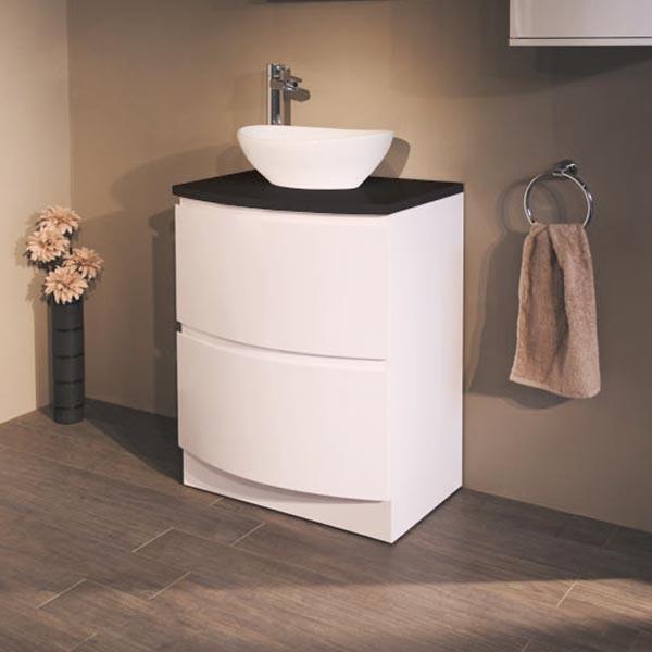 Voss 620 Floor Mounted Black Countertop Vanity Drawer Unit