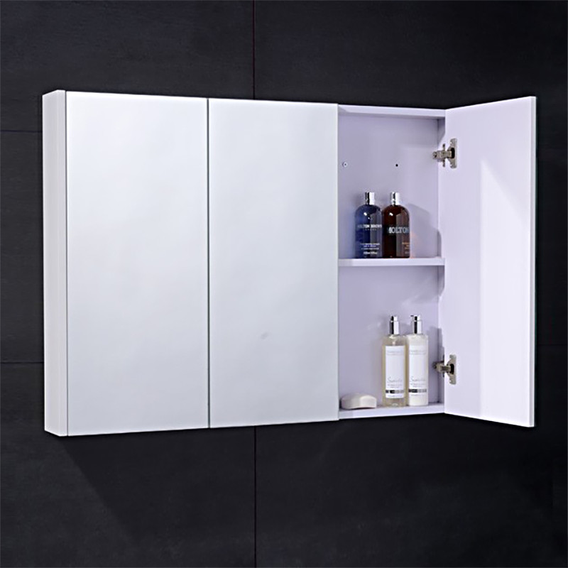 3 door mirrored bathroom cabinet white cuba aspen 90cm 3 door white mirror cabinet 24756