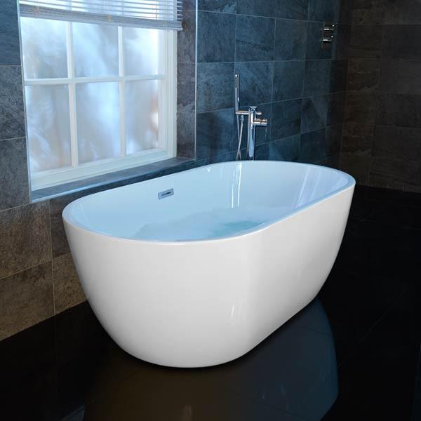 Aluna 1600 x 800mm Double Ended Freestanding Bath Tub
