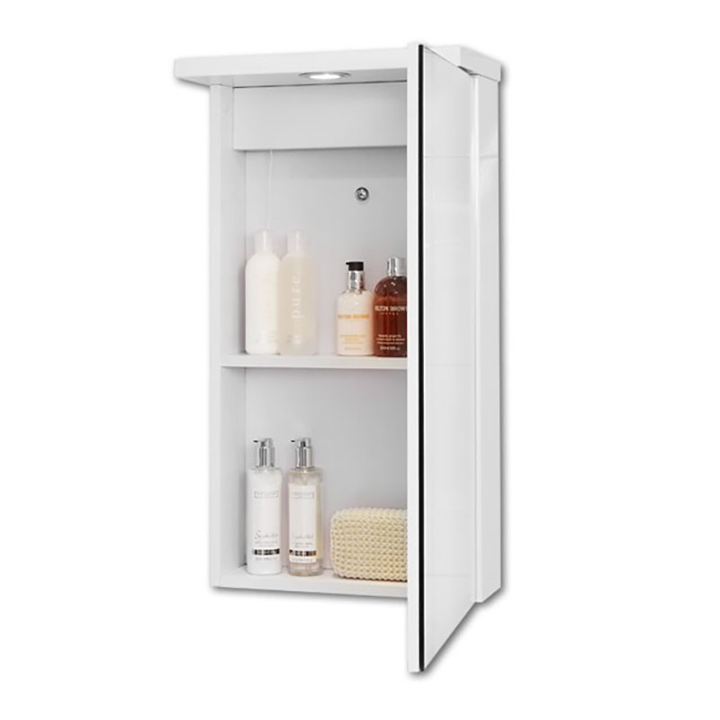 Windsor 400 mirrored cabinet with 1 light 750 l 390 w for Bathroom cabinet 750