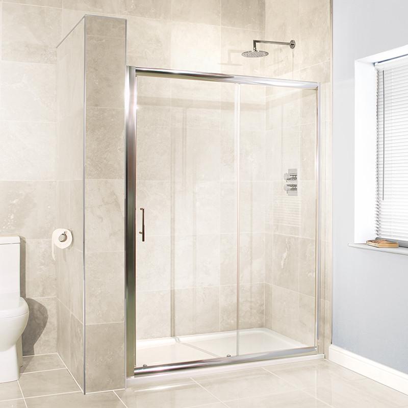 Sliding Bathroom Entry Doors: Aquafloe™ 6mm 1200 X 700 Sliding Door Shower Enclosure