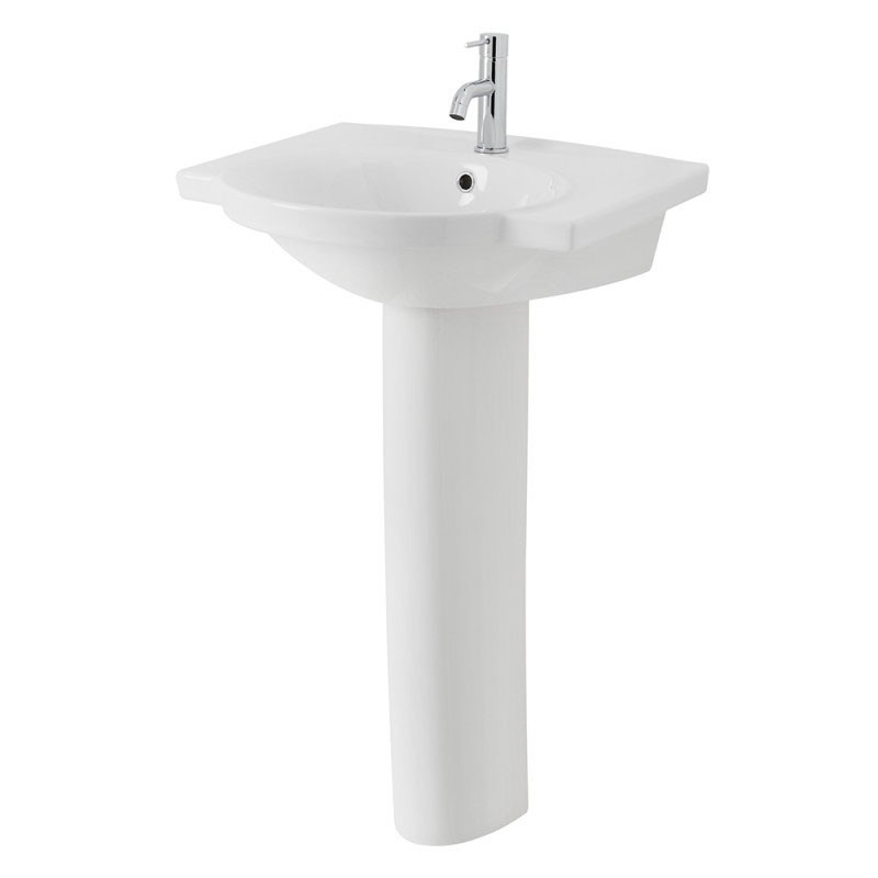 contemporary bathroom basins venti large pedestal basin 12429