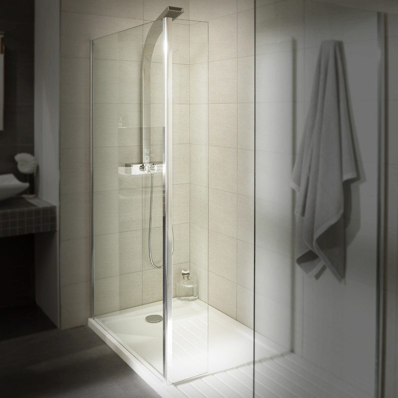 AquaLine™ 1400 Walk In Shower Enclosure with Tray