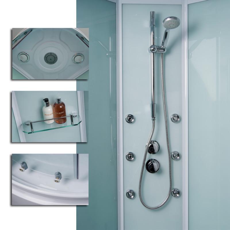 Aqualine™ Hydromassage Shower Cabin with 6 Body Jets