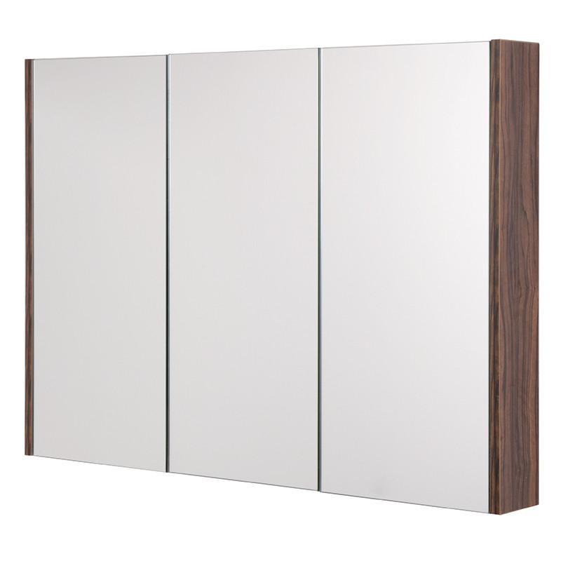 AspenTM 3 Door Walnut Mirror Cabinet 650H 900W 100P