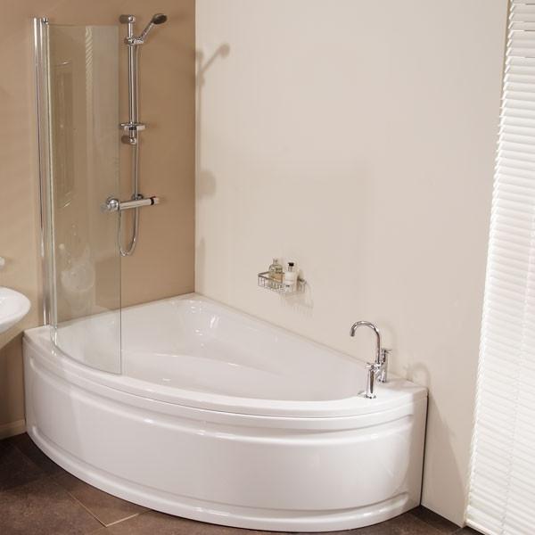 vienna offset left hand shower bath
