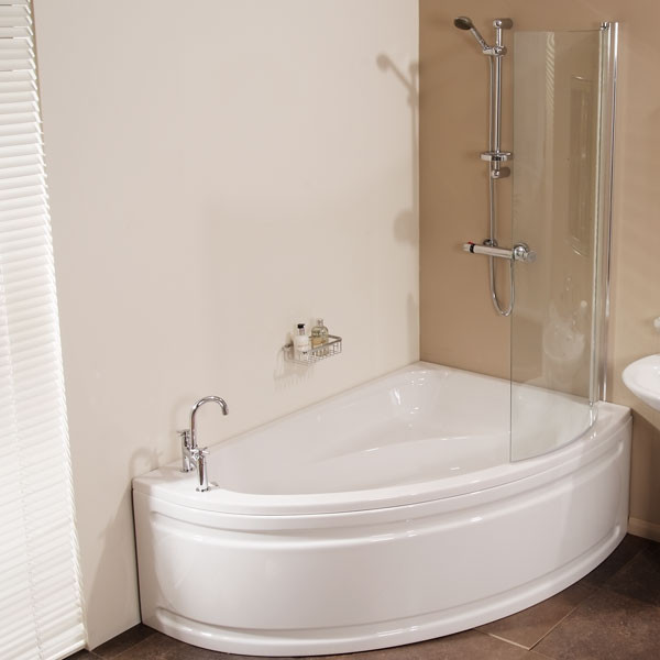 1500 x 1050 Offset Right Hand Shower Bath