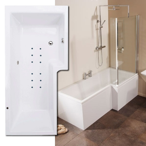 modena right hand square whirlpool shower bath suite p shaped whirlpool shower bath suite bathshop321