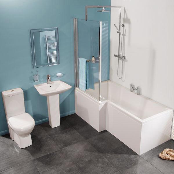 Veneto Left Hand Square Shower Bath Suite
