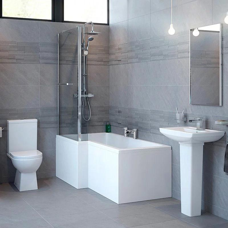 Salou Left Hand Square Shower Bath Suite