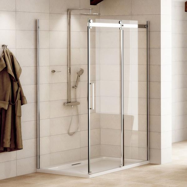 AquafloeTM Elite Ll 8mm 1400 X 900 Frameless Sliding Door Shower Enclosure