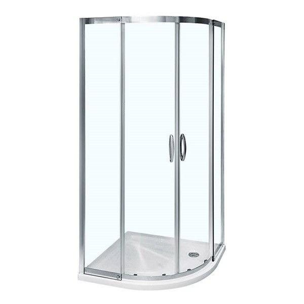 Aquafloe iris 8mm 1000 x 1000 sliding door quadrant enclosure for Door quadrant