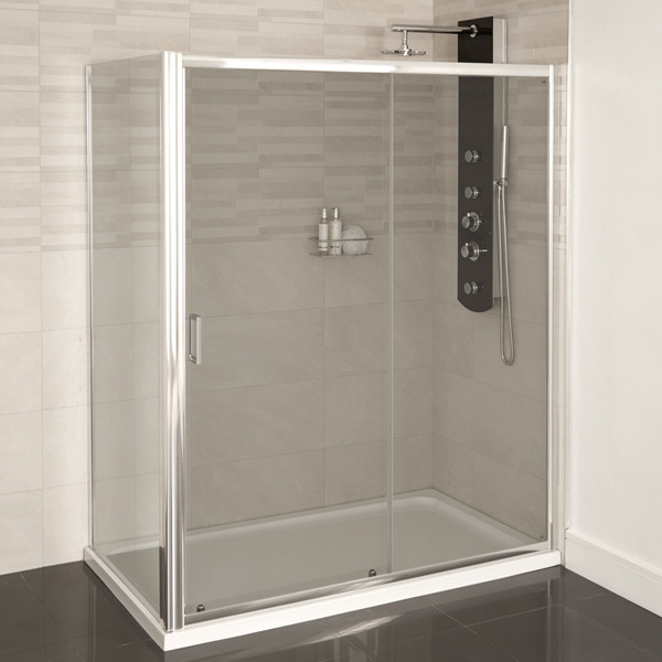 Aqualine 4mm 1200 x 700 sliding door shower enclosure for 1200 shower door sliding