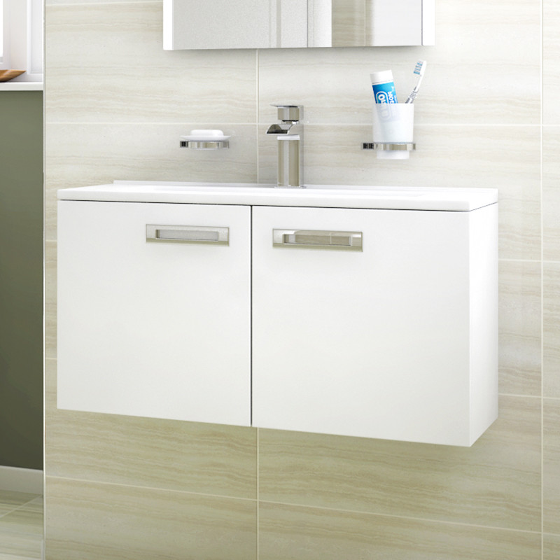 Aspen Compact 700 Wall Mounted 2 Door Vanity Unit
