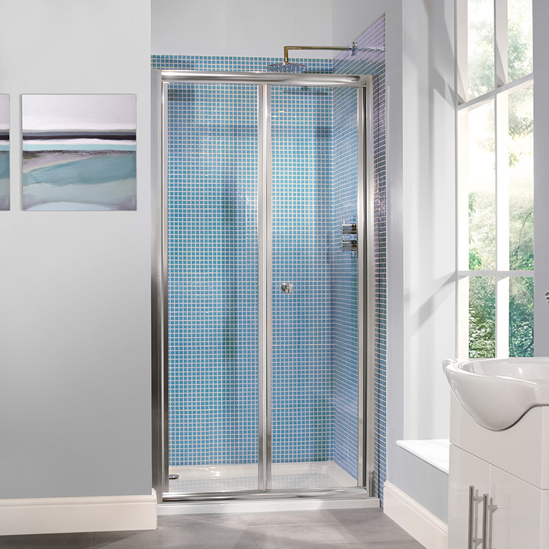 6mm 1000 bi fold door shower enclosure