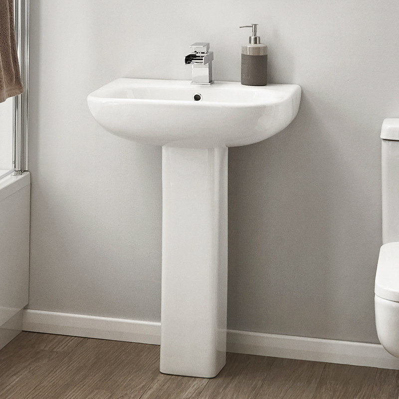 contemporary bathroom basins carona basin and pedestal 12429