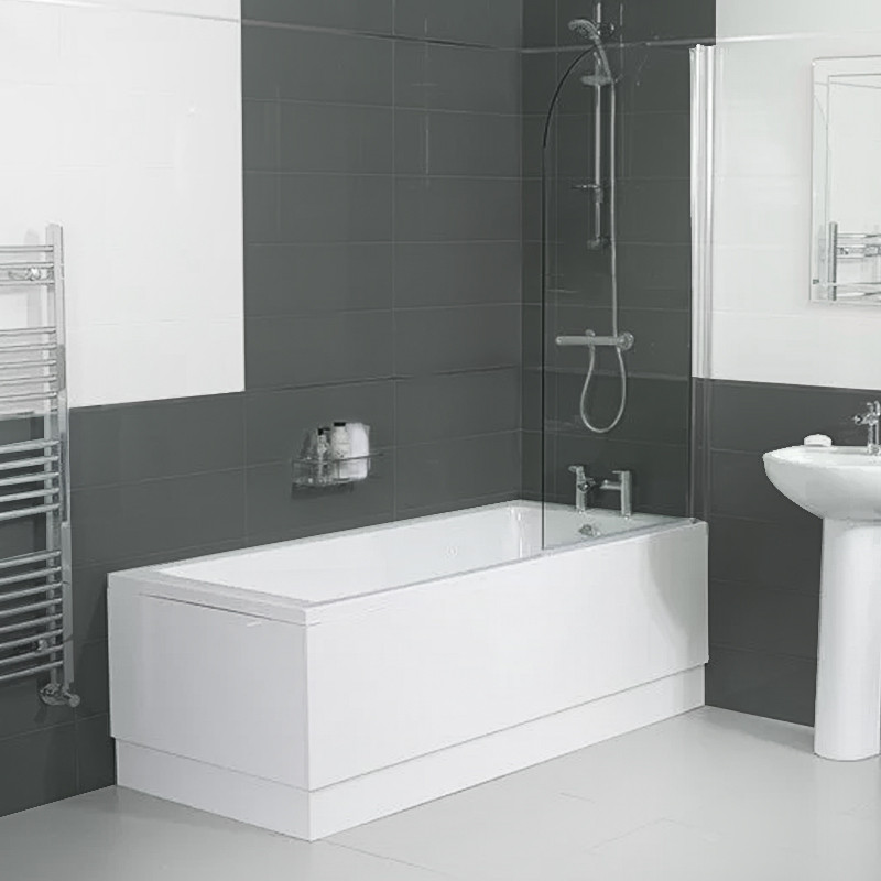 Carona 1800 x 800 single bath with screen for Bath 1800