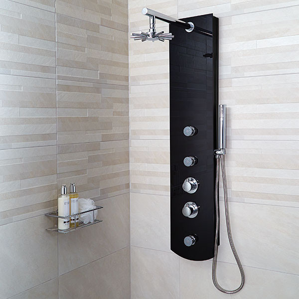 Crystal Thermostatic Shower Tower Panel