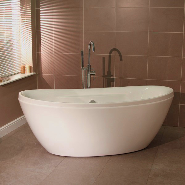 Duo 1750 x 840 freestanding oval bath for Best freestanding tub material