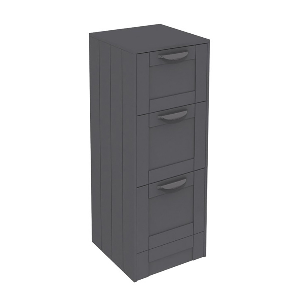 nottingham grey 3 drawer storage unit. Black Bedroom Furniture Sets. Home Design Ideas