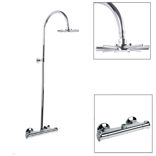 Larkin Bar Shower Valve and Riser Rail Kit - Clearance