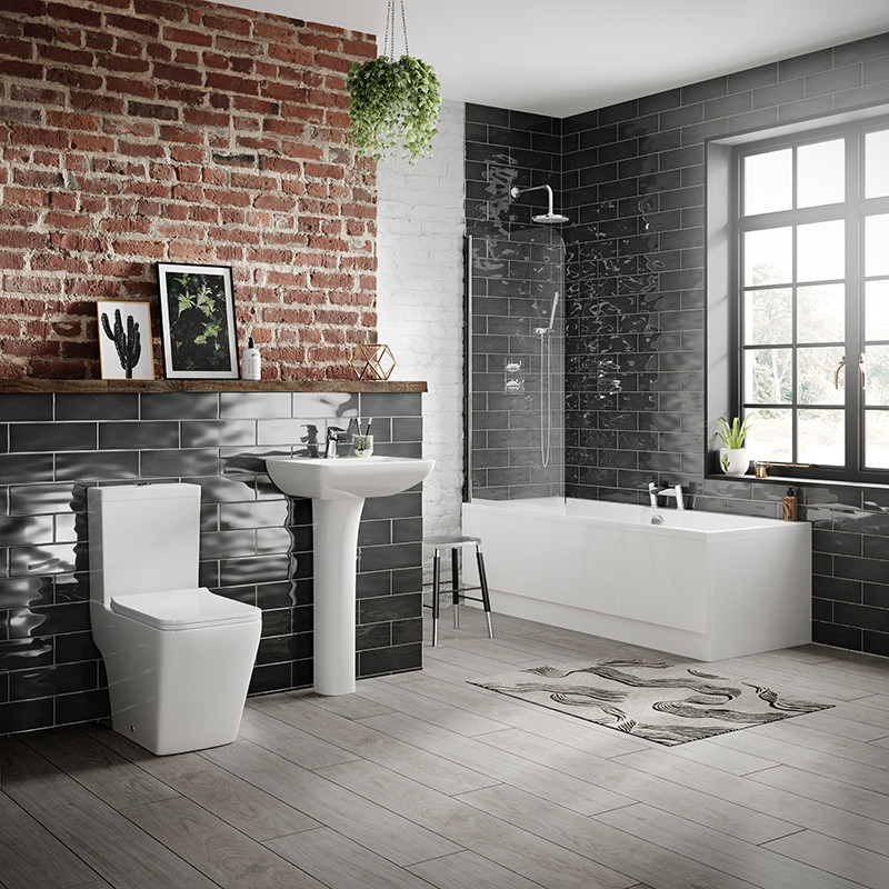 Voss 1600 left hand bathroom suite for 1600 bath suite