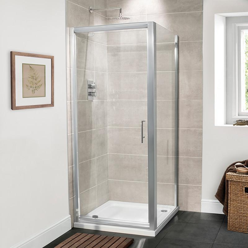 Aquafloe™ Premium 6mm 900 Pivot Door Shower Enclosure
