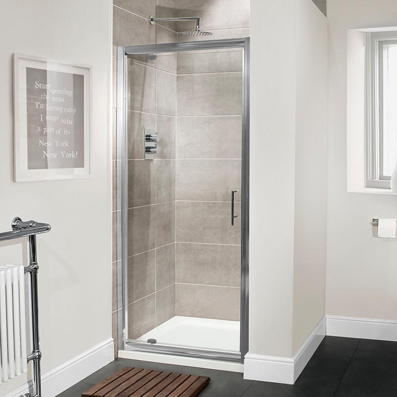 Aquafloe™ Premium 6mm 800 Pivot Shower Door