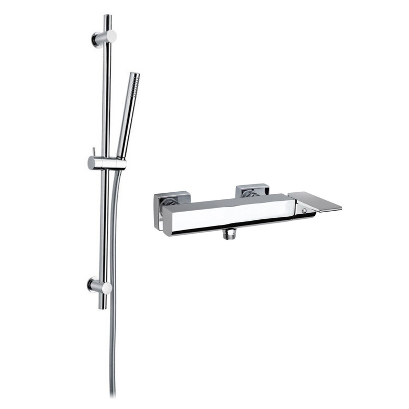 LI97SA530B additionally 2892 furthermore T And S Brass 5PR 2S12 C No Finish Defined  mercial Fixture as well Jacobean Single Hole Faucet W Pullout Spray together with Leiro Dual Function Thermostatic Rigid Riser Rail Kit. on shower door showrooms
