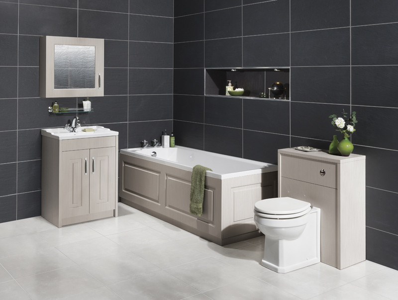 grey bathroom tile premier york grey 1700mm bath front panel 13034