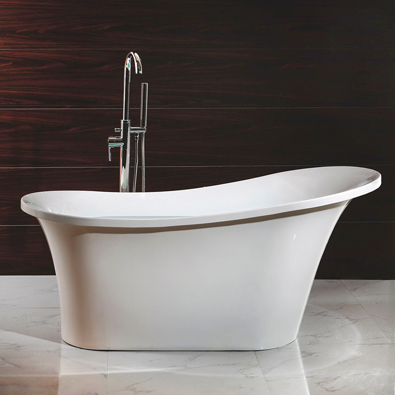 Torrelino 1520x750mm Single Slipper Freestanding Acrylic Bath