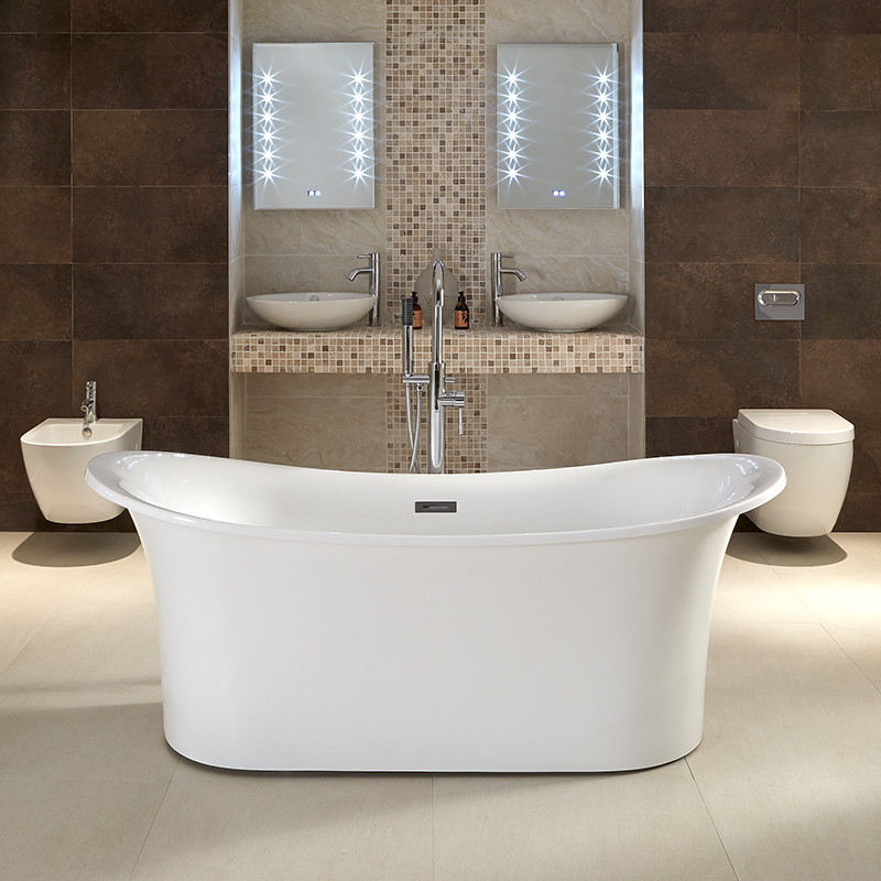 Torrelino 1700 X 800mm Double Ended Slipper Bath
