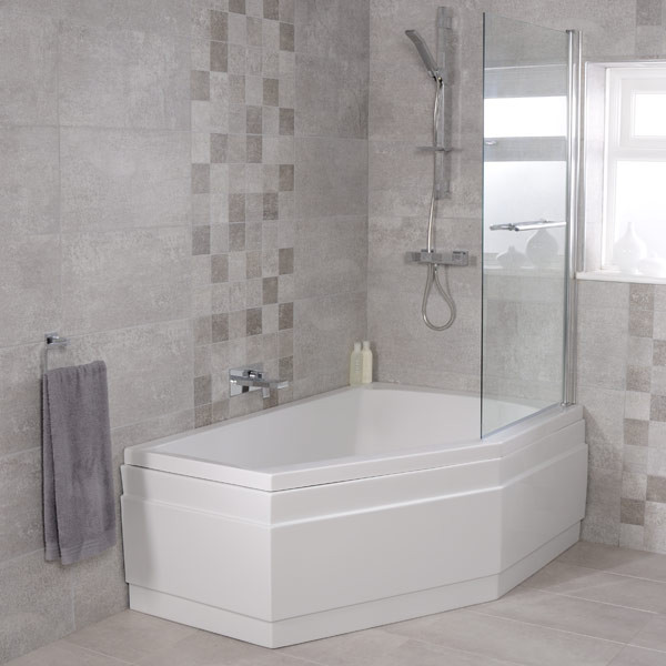 Shower Over Corner Bath trio 1500 x 1000 right hand shower bath