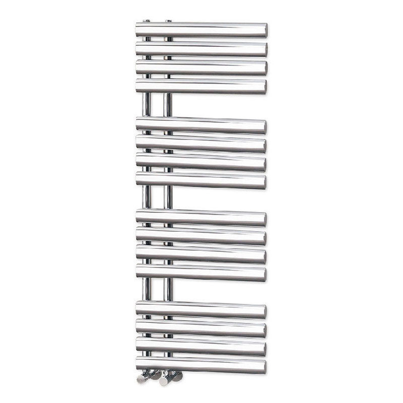 300mm Wide Black Designer Electric Heated Towel Rail: Finesse Designer 1200 X 450mm Heated Towel Rail